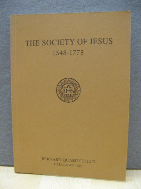 Image for The Society of Jesus, 1548-1773: Catalogue 1226