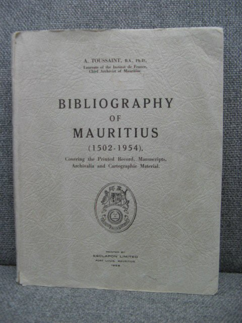 Image for Bibliography of Mauritius (1502-1954)