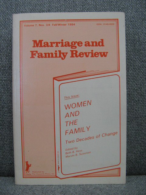 Image for Women and the Family: Two Decades of Change (Volume 7, Numbers 3/4)