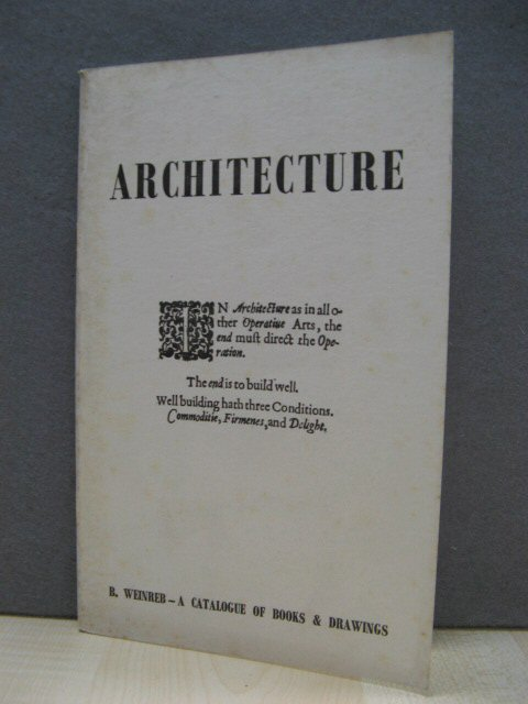 Image for Architecture: Books and Drawings: Catalogue One