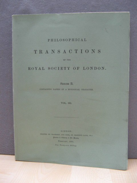 Image for Philosophical Transactions of the Royal Society of London. Series B. Containing Papers of a Biological Character. Vol. 195.