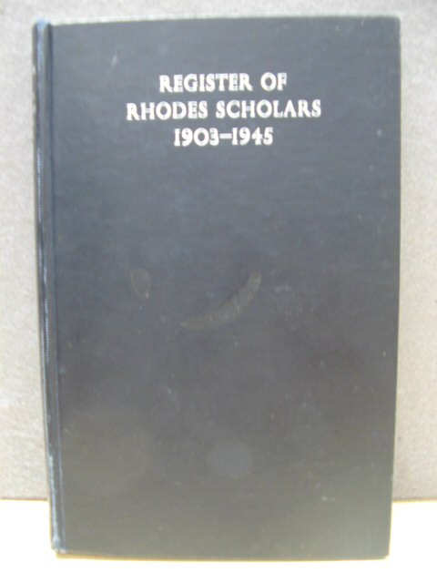 Image for Register of Rhodes Scholars, 1903 - 1945