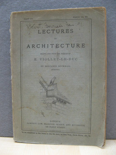 Image for Lectures on Architecture, Part III.