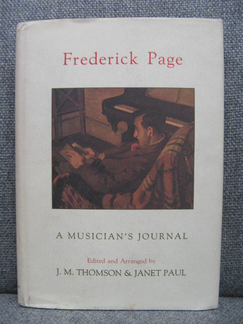 Image for Frederick Page: A Musician's Journal