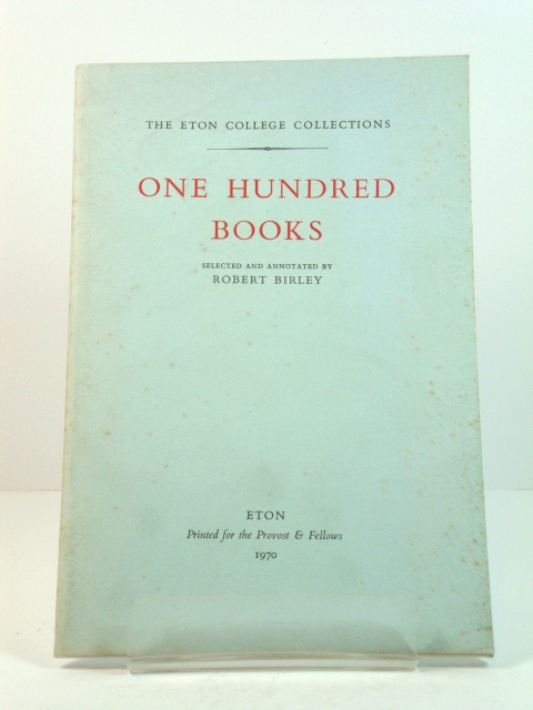 Image for One Hundred Books (Eton College Collections)
