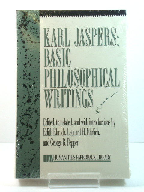 Image for Karl Jaspers: Basic Philosophical Writings (Humanities Paperback Library)