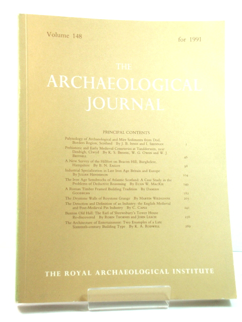 Image for The Archaeological Journal: Volume 148 for the Year 1991