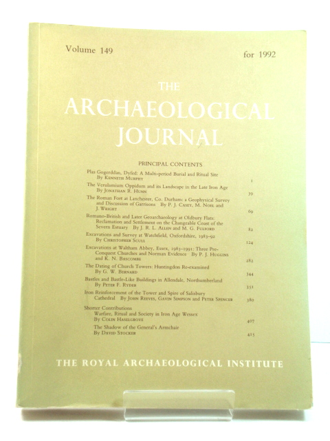 Image for The Archaeological Journal: Volume 149 for the Year 1992