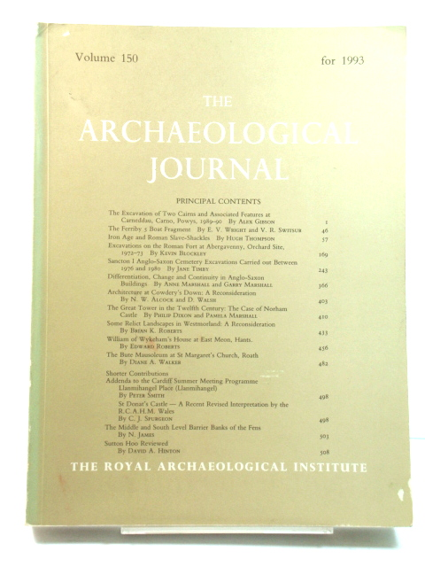Image for The Archaeological Journal: Volume 150 for the Year 1993