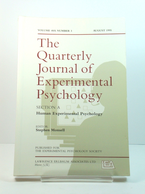 Image for The Quarterly Journal of Experimental Psychology: Section A: Human Experimental Psychology: Volume 48A, Number 3, August 1995
