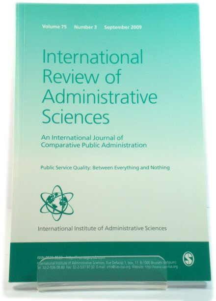 Image for International Review of Administrative Sciences: An International Journal of Comparative Public Administration: Volume 75, Number 3, September 2009