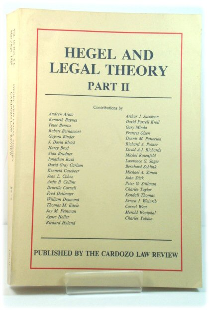Image for Hegel and Legal Theory: Part II