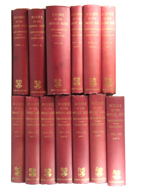 Image for History of the City of Rome in the Middle Ages: Volumes I - VIII