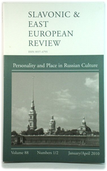 Image for The Slavonic and East European Review, Volume 88, Numbers 1/2, January/April 2010: Personality and Place in Russian Culture
