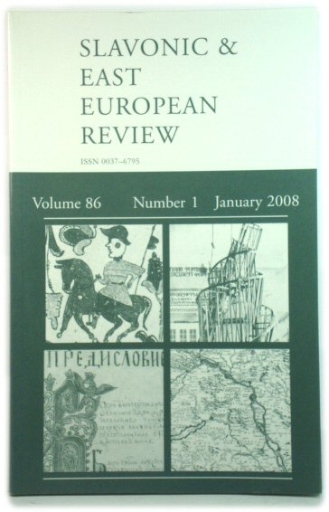 Image for The Slavonic and East European Review, Volume 86, Number 1, January 2008