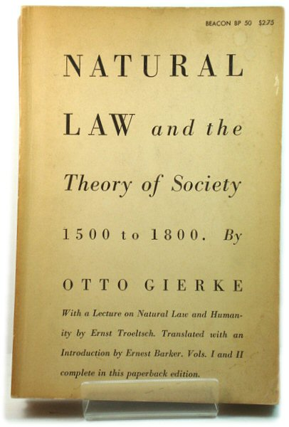 Image for Natural Law and the Theory of Society, 1500 to 1800