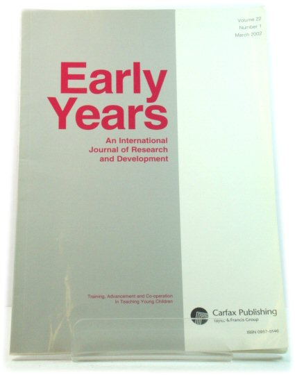 Image for Early Years: Volume 22, Number 1, March 2002