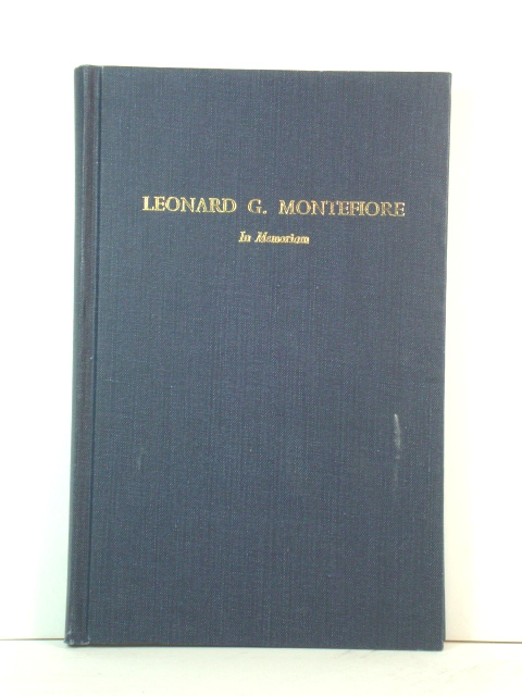 Image for Leonard G. Montefiore, 1889 - 1961: In Memoriam