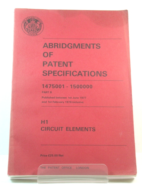 Image for Abridgments of Patent Specifications: Published Between 1st June 1977 and 1st February 1978 Inclusive