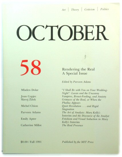 Image for October 58: Rendering the Real: A Special Issue: Fall 1991