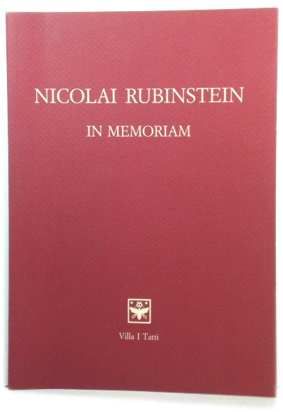 Image for Nicolai Rubinstein: In Memoriam