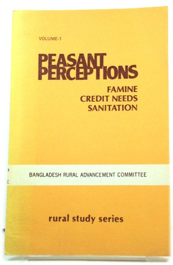 Image for Peasant Perceptions: Famine, Credit Needs, Sanitation