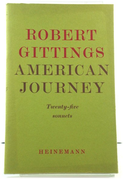 Image for American Journey: Twenty-five Sonnets