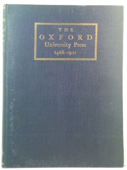 Image for Some Account of the Oxford University Press, 1468-1921