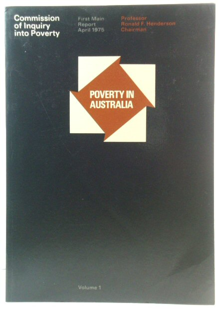 Image for Poverty in Australia: First main report, April 1975