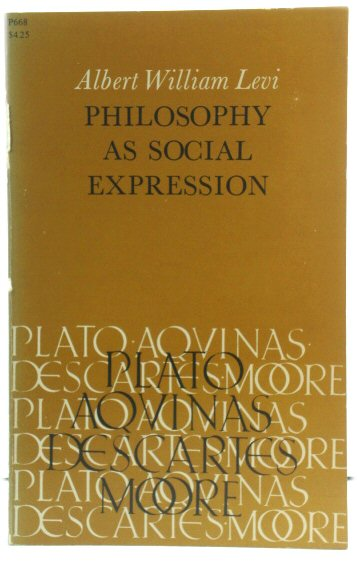 Image for Philosophy as Social Expression