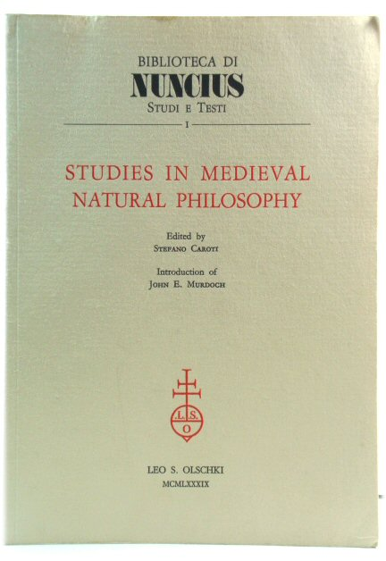 Image for Studies in Medieval Natural Philosophy