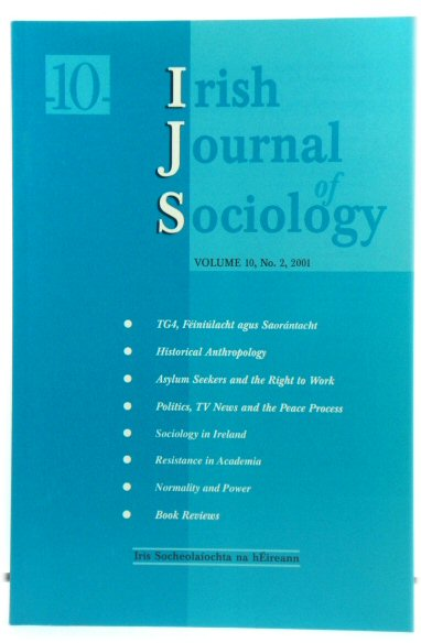 Image for Irish Journal of Sociology: Volume 10, No. 2, 2001