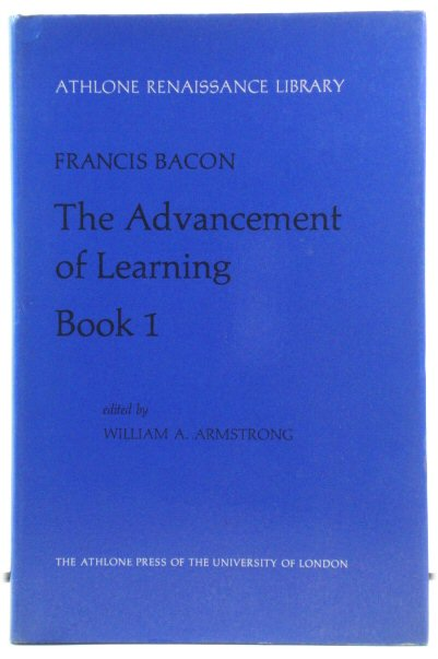 Image for The Advancement of Learning, Book I