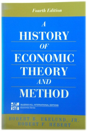 Image for A History of Economic Theory and Method