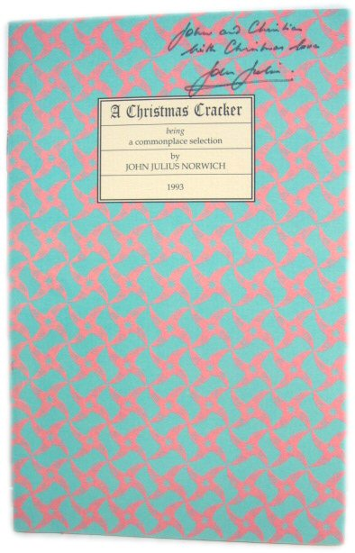 Image for A Christmas Cracker 1993: Being a Commonplace Selection