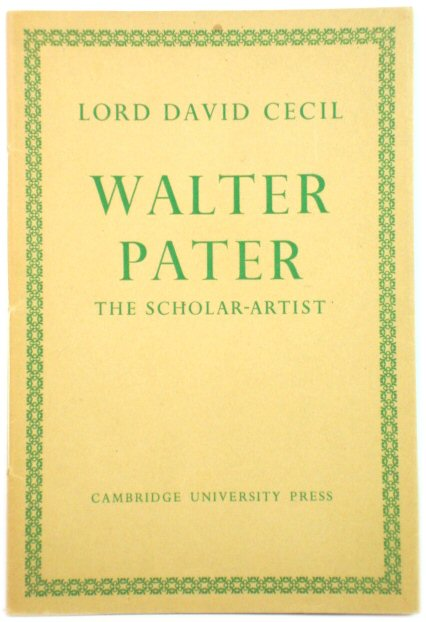 Image for Walter Pater: The Scholar-Artist