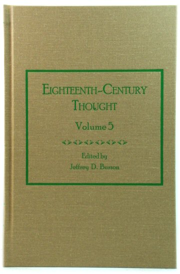 Image for Eighteenth-Century Thought: Volume 5