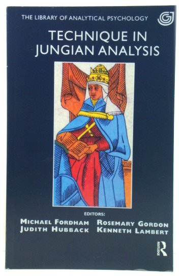 Image for Technique in Jungian Analysis (The Library of Analytical Psychology)