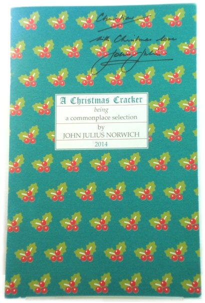 Image for A Christmas Cracker 2014: Being a Commonplace Selection