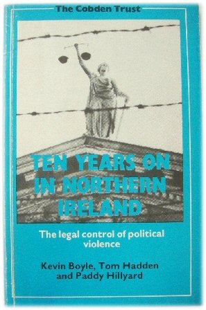 Image for Ten Years on in Northern Ireland: The Legal Control of Political Violence