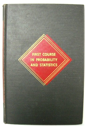 Image for First Course in Probability and Statistics