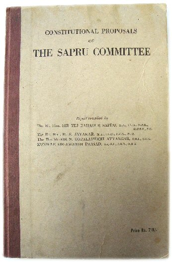 Image for Constitutional Proposals of the Sapru Committee