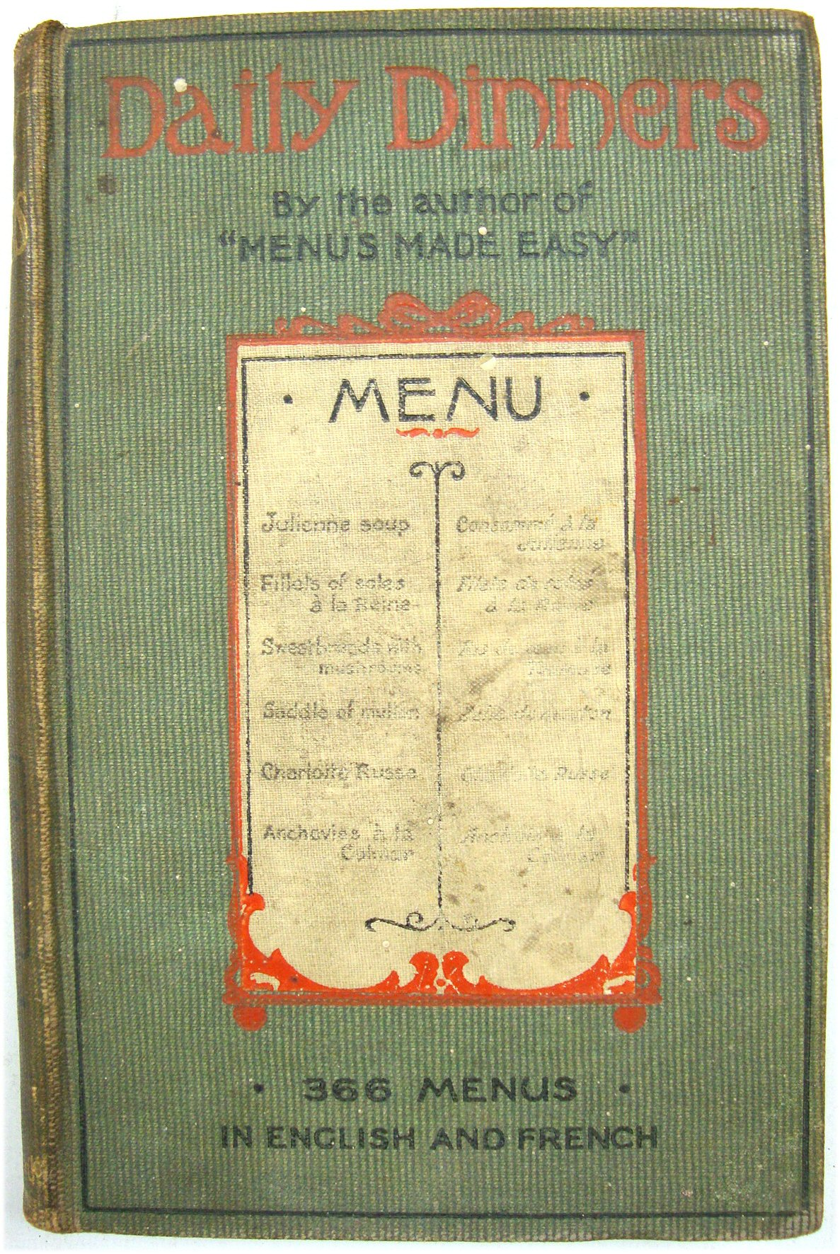 Image for Daily Dinners: A Collectin of 366 Distinct Menus in English and French