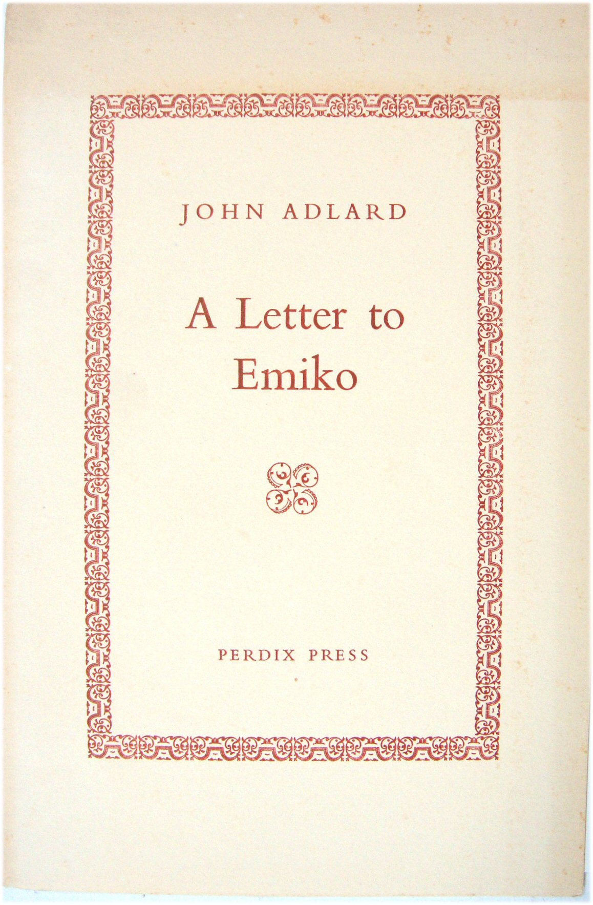 Image for A Letter to Emiko