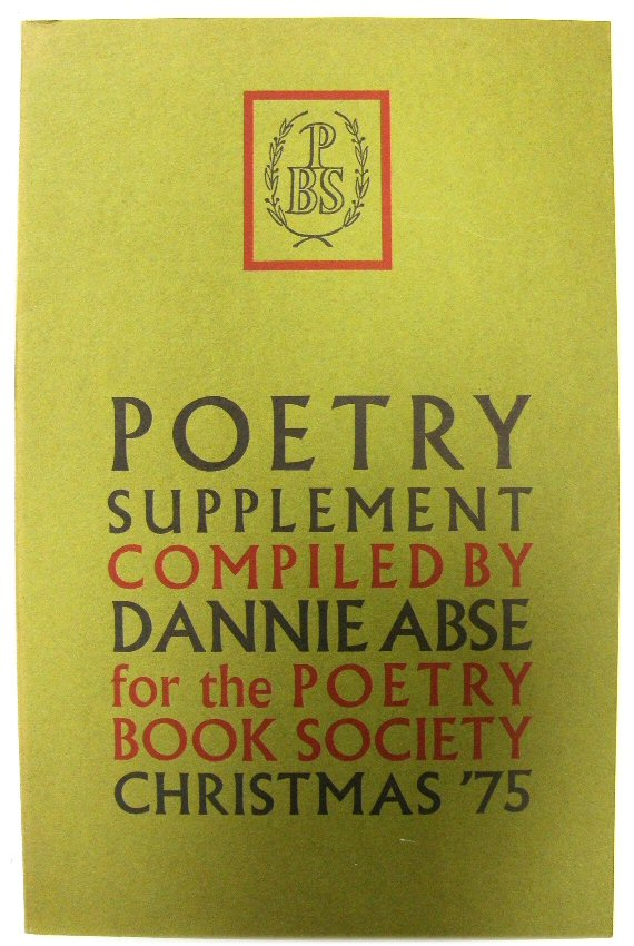 Image for Poetry Supplement Compiled By Dannie Abse for the Poetry Book Society Christmas '75