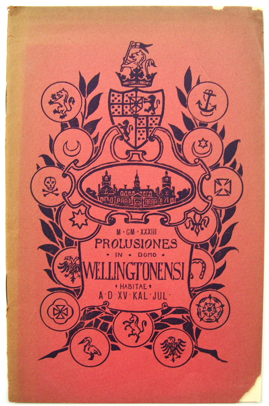 Image for Prolusiones in Domo Wellingtonensi 1933