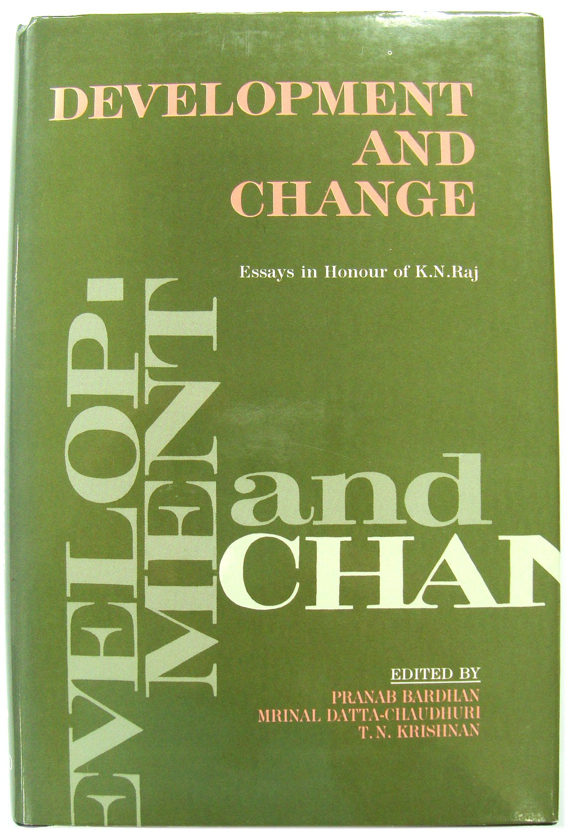Image for Development and Change: Essays in Honour of K. N. Raj