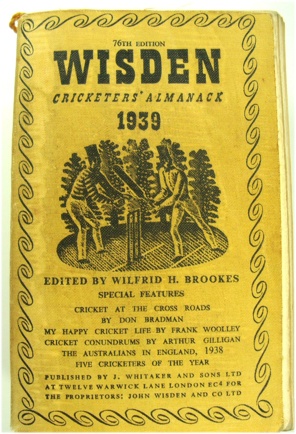 Image for 76th Year Wisden Cricketers' Almanack 1939