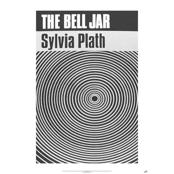Image for THE BELL JAR new POSTER of '60s Sylvia Plath Book Cover (A1 size)